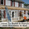 a new porch being built on a home