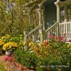 front porch with beautiful landscaping