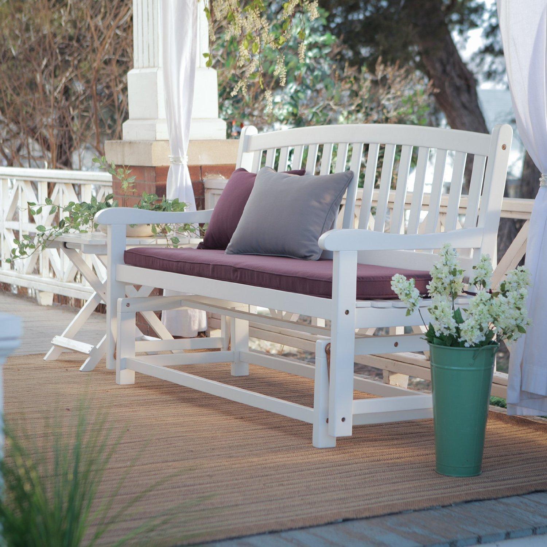 white front porch glider