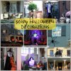 collage of scary halloween decorating ideas