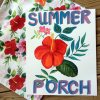 colorful summer porch pillow covers