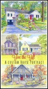 Get a custom watercolor painting of your home