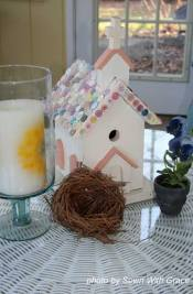 Easy decorating ideas - birdhouse decoration