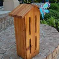 butterfly house from cedar fence slat