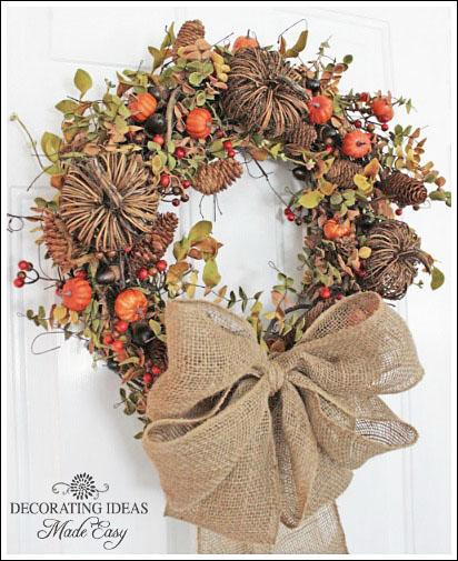 beauiful fall wreath made easy