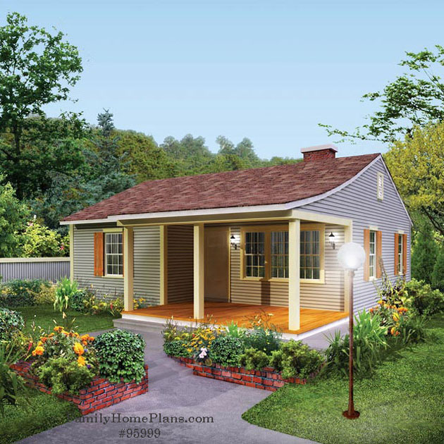 cottage home plan with amazing front porch