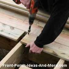 installing front porch flooring boards