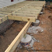 pier foundation under construction for front porch