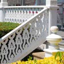 decorative porch stair hand rails
