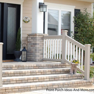 Porch stair hand rails
