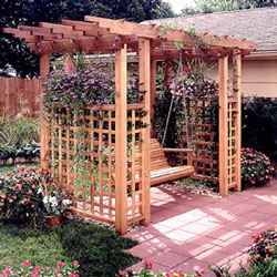 pretty garden arbor