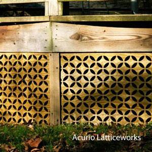 vinyl lattice panel as front porch skirting