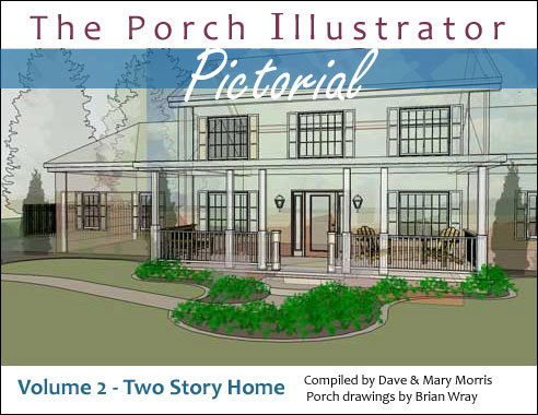 Porch Illustrator Pictorial eBook volume 2 - two story home