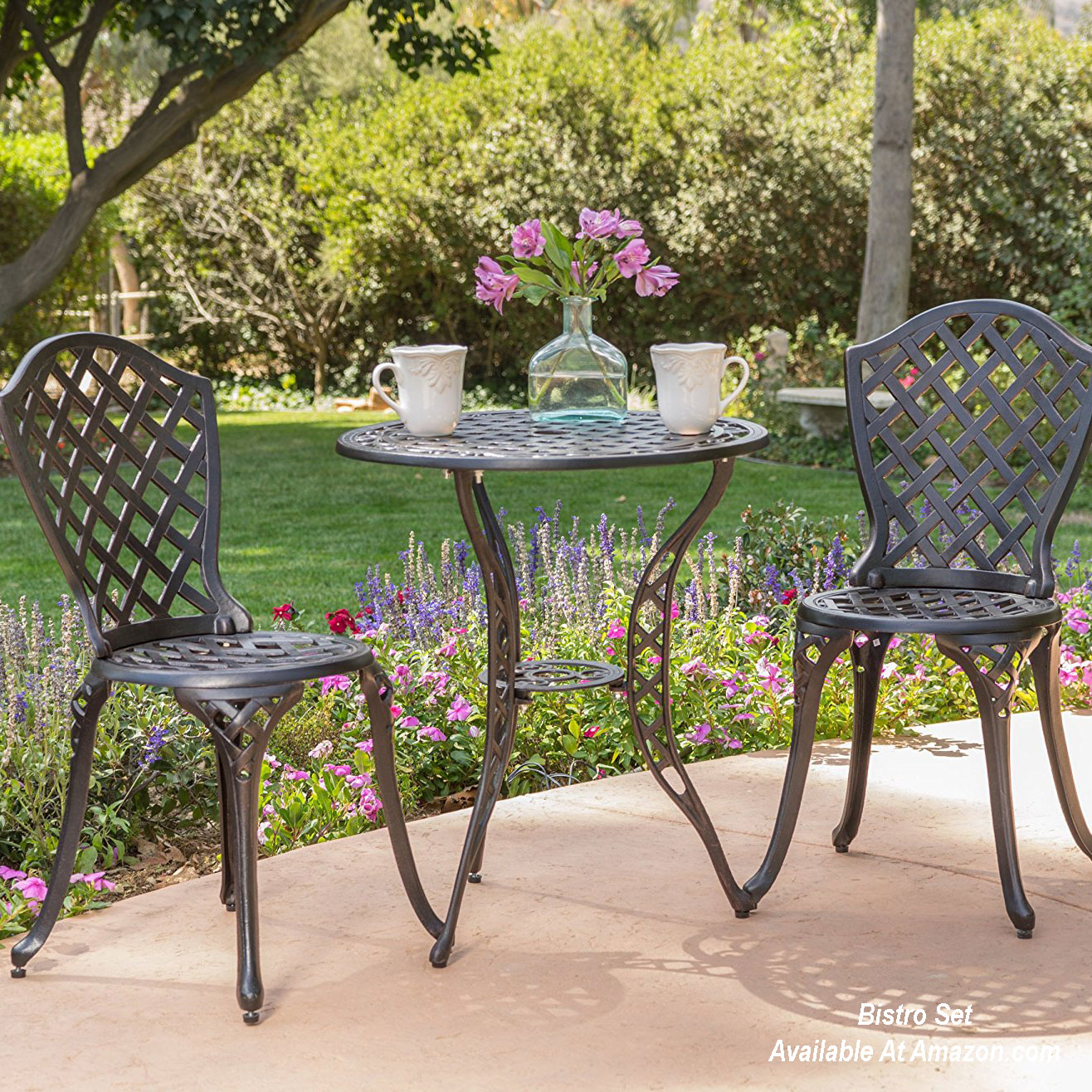 bistro set on patio area