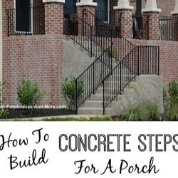 concrete porch steps with wrought iron railings