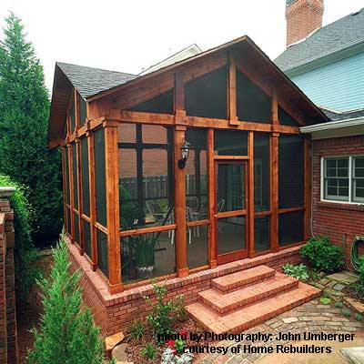 wonderfully constructed screened in porch in cedar