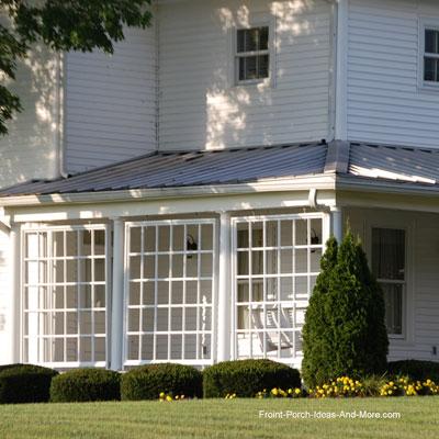 Bush's Bean's farmhouse front porch