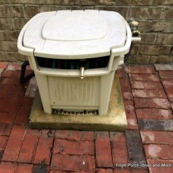 immovable garden hose storage box project