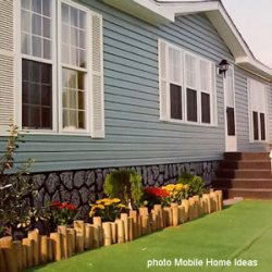 faux mobile home skirting