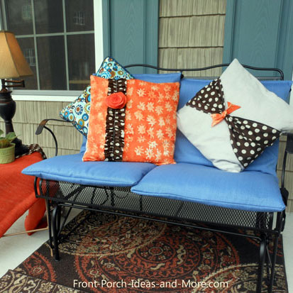 porch cushions recovered