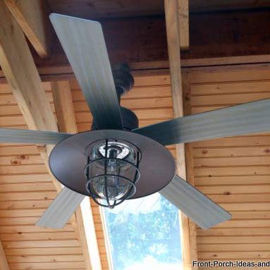 beautiful ceiling fan on front porch