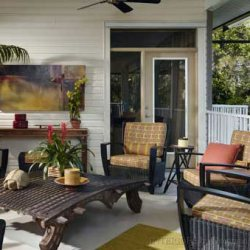 amazingly beautifully decorated porch with outdoor furniture