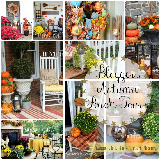 Twenty some bloggers porches decorated for autumn