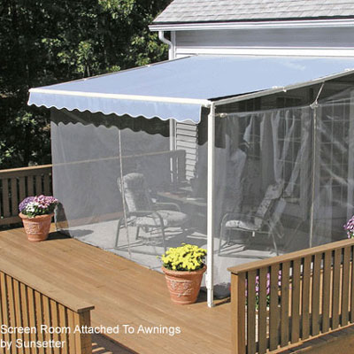 screen porch awning on back patio