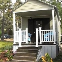 tiny house design with adorable front porch