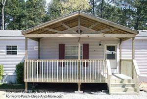 Open Gable Front Porch Design By Ready Decks