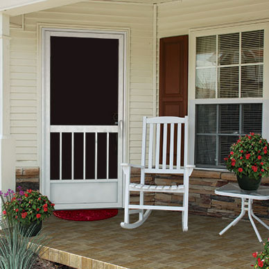 custom aluminum screen door by pca prodcuts & Front Porch Designs and Front Porch Ideas to Jazz Your Home Pezcame.Com