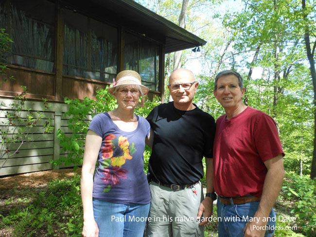 J. Paul Moore, landscape photographer, with Dave and Mary of PorchIdeas.com