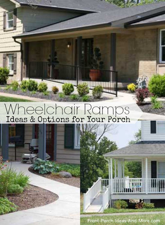 Various options for wheelchair ramps