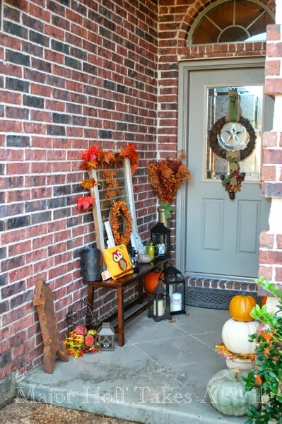 Major hoff takes a wife fall front porch - Narrow porch decorating ideas ...