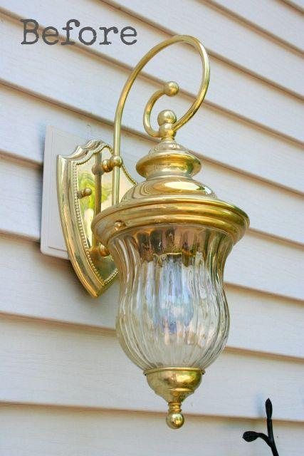 outdoor light fixture before paint
