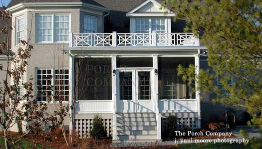 a front enclosed porch