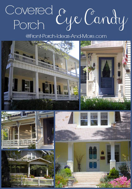 collage of porch pictures - Front Porch Design Ideas