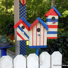 patriotic birdhouse decorations