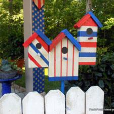 patriotic wooden flag for porches