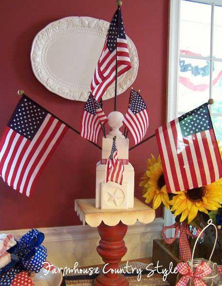patriotic muliple flag holder