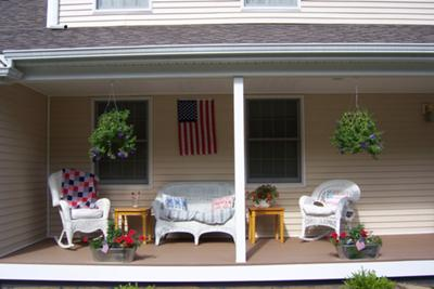 Shelly's patriotic porch