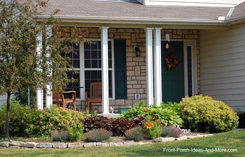 Landscaping Ideas Ohio : Lewis center ohio front yard landscaping porch