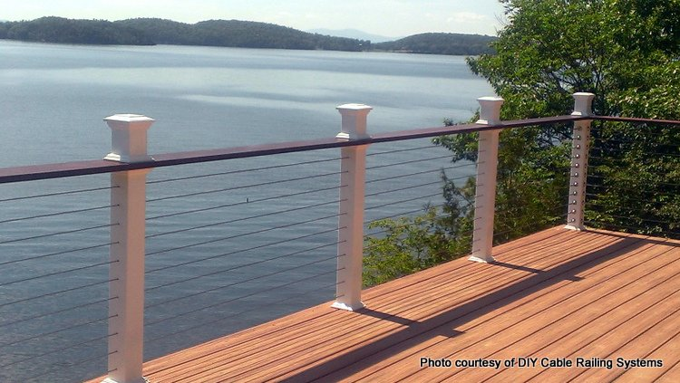 horizontal Steel Cable Railings with contemporary posts