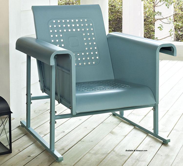 veranda porch glider metal retro chair from Amazon.com