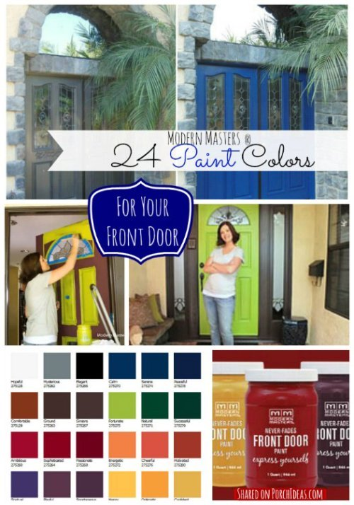 Modern Masters Front Door Paint Colors  as shared on Front-Porch-Ideas-and-More.com