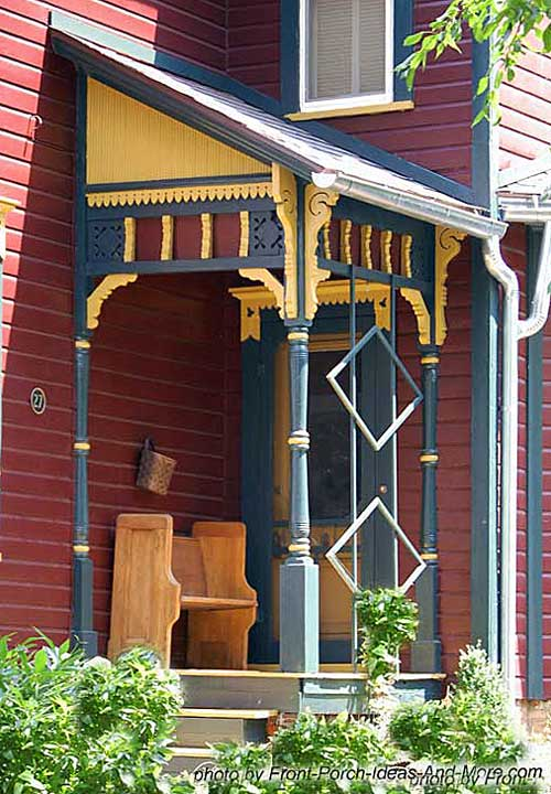 Small porch small front porch small porch plans for Victorian house trim