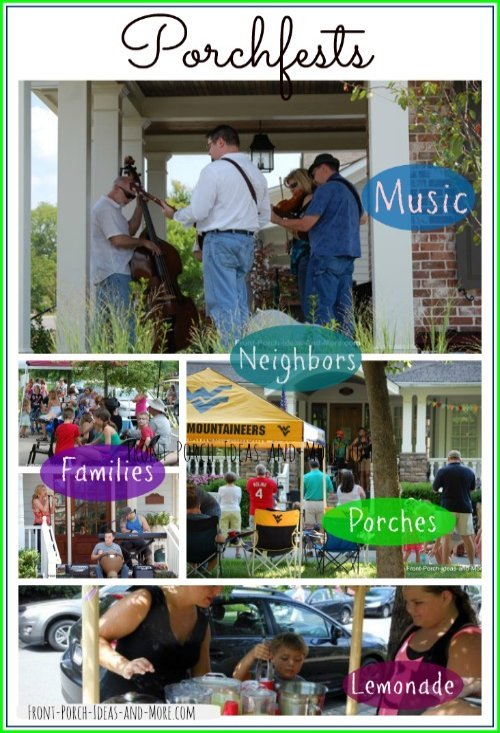 collage of porchfests