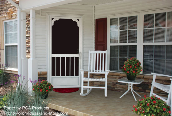 PCA products screen door on front porch