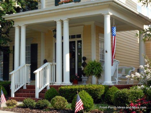 Porch columns front porch columns for Wrap around porch columns