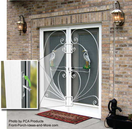 Use your aluminum screen door to maximize curb appeal for Decorative storm doors with screens